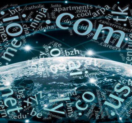 ¿Cuáles son los nombres de dominio de nivel superior más populares y qué significan?
