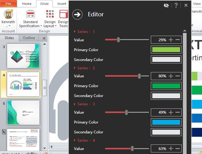editor de gráficos inteligentes islide