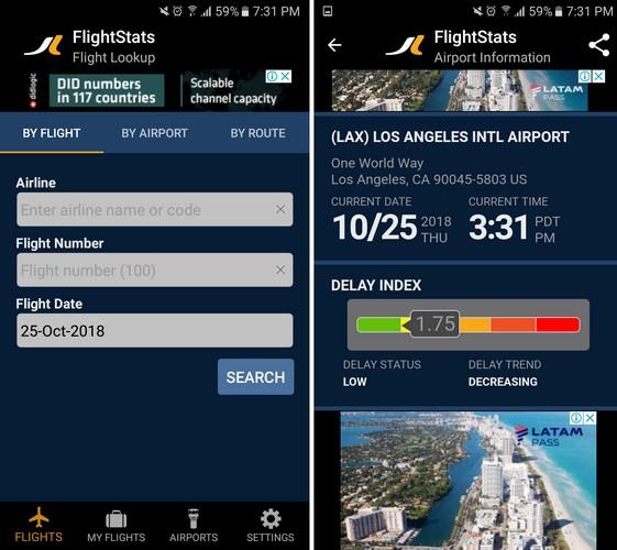 estadísticas de vuelos aéreos
