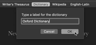personalizar-diccionario-aplicación-Macos-renombrar etiqueta