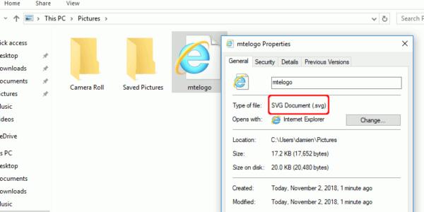 Cómo mostrar miniaturas SVG en Windows Explorador