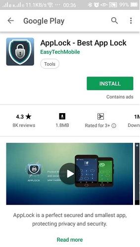 Ocultar aplicaciones en Android con AppLock