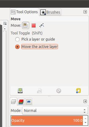 Establecer opciones para la herramienta Mover