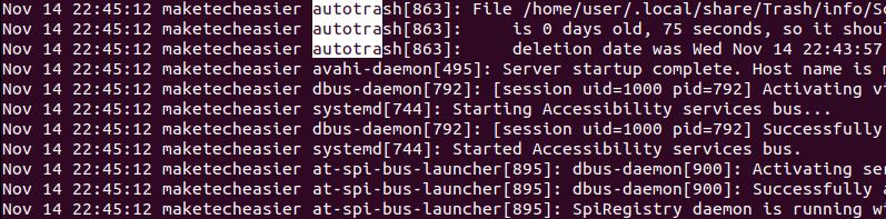 autotrash-log-in-systemd-journal