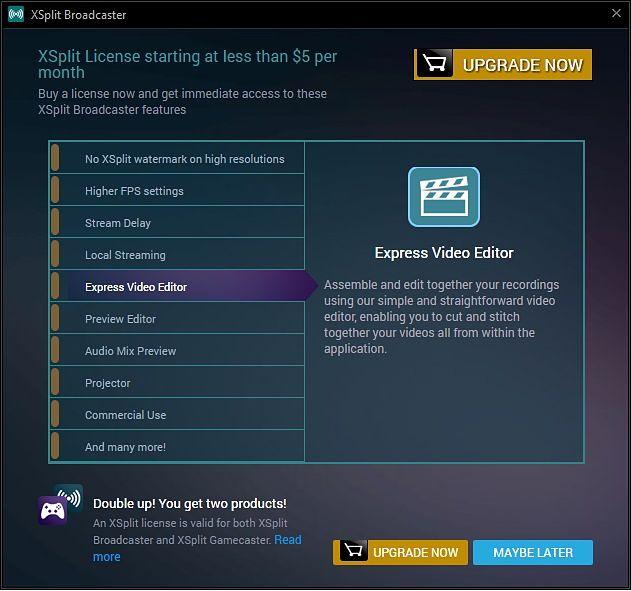 Funciones avanzadas de XSplit Broadcaster