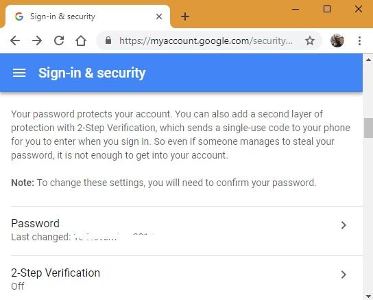 verificación de google en dos pasos