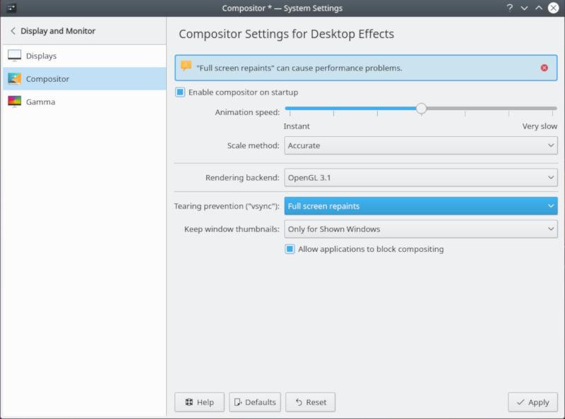 Comandos de numeración de KDE