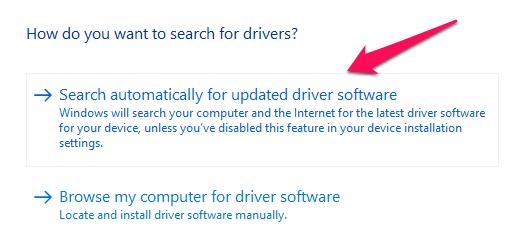 Controlador de actualización de gráficos de Windows 10