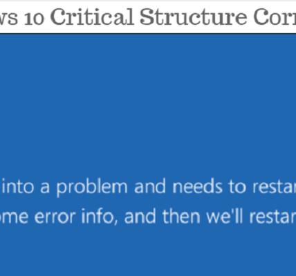 Cómo solucionar problemas de corrupción de estructuras críticas en Windows diez