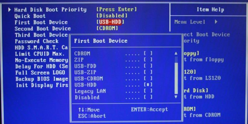 Explicación de la configuración común del BIOS