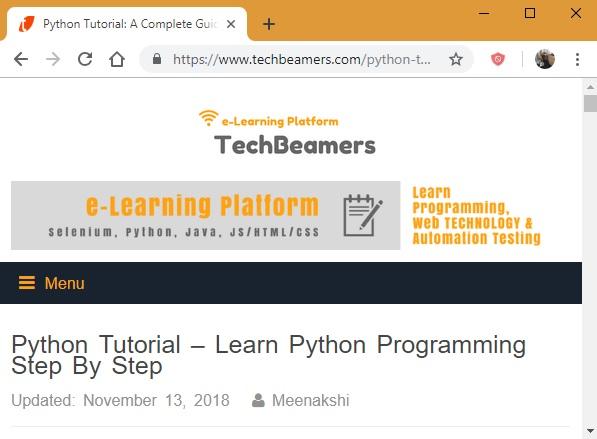 Tutorial de TechBeamers Python.org