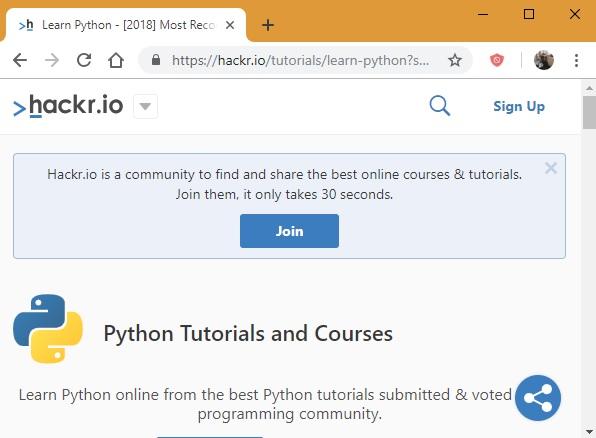 Tutorial de Hackr.io Python