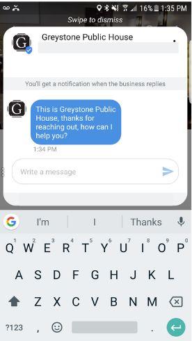 haga clic en responder tarjetas de mensaje