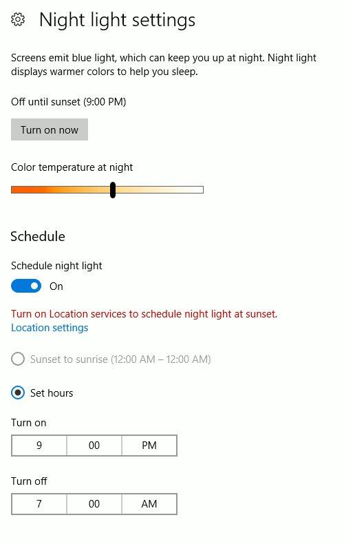 Windows-configure-nightlight