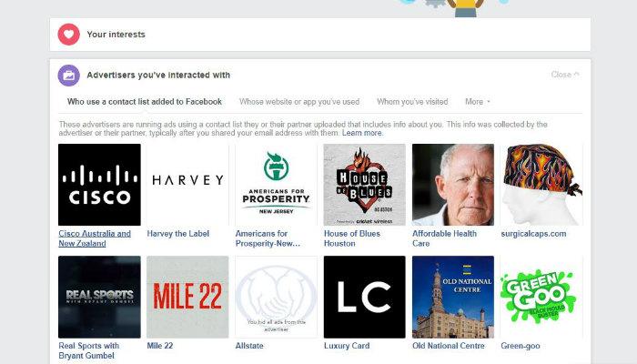 Anunciantes de datos de Facebook