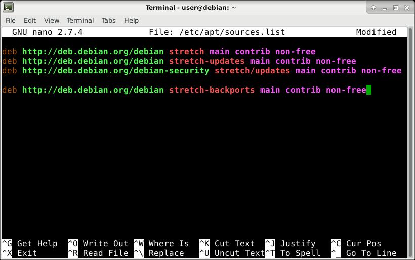 Debian-backports-edit-source-list