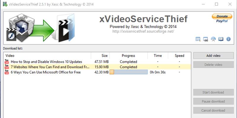 Cómo descargar fácilmente videos de la web con xVideoServiceThief