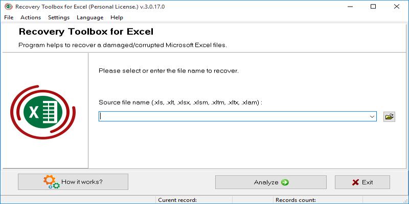 Recupere archivos de Excel dañados con Recovery Toolbox for Excel