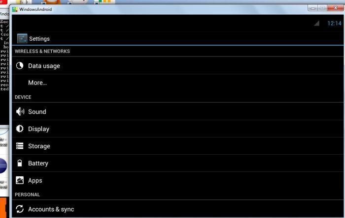 Windows Android        La configuración.