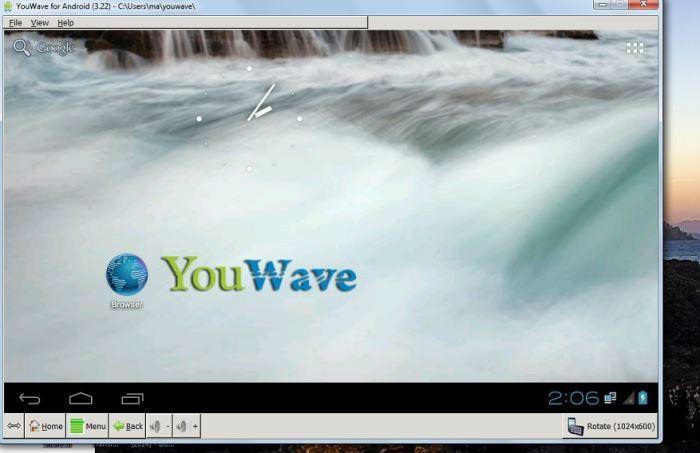 Interfaz de usuario de Youwave.