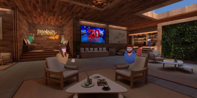 Molotov permitirá a los espectadores franceses unirse a un café de realidad virtual y ver televisión con amigos