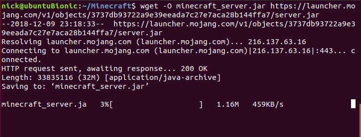 Descargar servidor de Minecraft