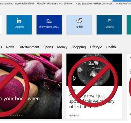 Cómo desactivar artículos en la página de inicio de Microsoft Edge