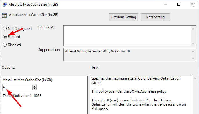 win10-optimization-delivery-lot-space-in-the-policy-settings-window