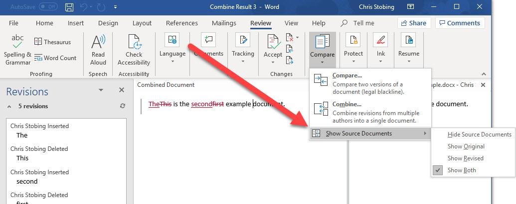 fusionar documentos de Word mostrar fuente