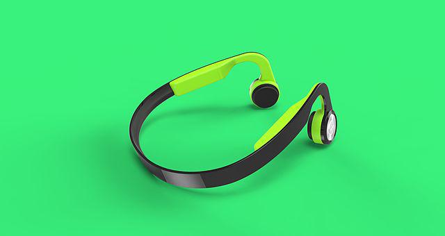 auriculares de cabeza de hueso