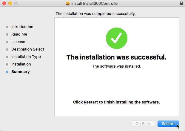 conectar-xbox-un-controlador-a-mac-controlador-instalador-reiniciar