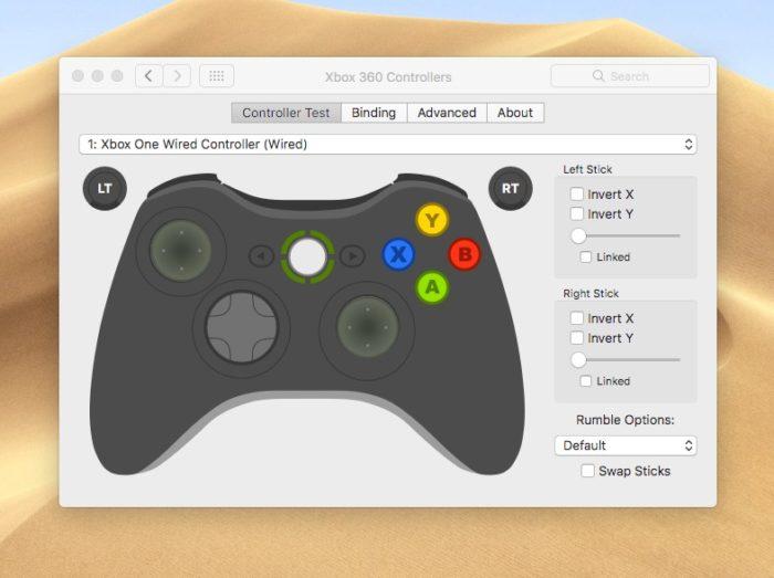 conectar-xbox-one-controller-a-mac-controller-settings-2