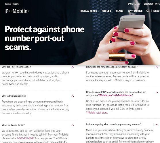 Recomendación de transferencia de número de teléfono de T-Mobile