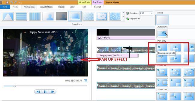 Windows        Movie Maker - Efecto panorámico