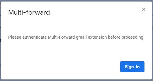 reenviar múltiples correos electrónicos autorizados de gmail chrome