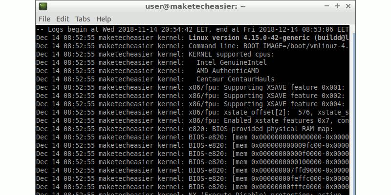Cómo usar Journalctl para leer los registros del sistema Linux
