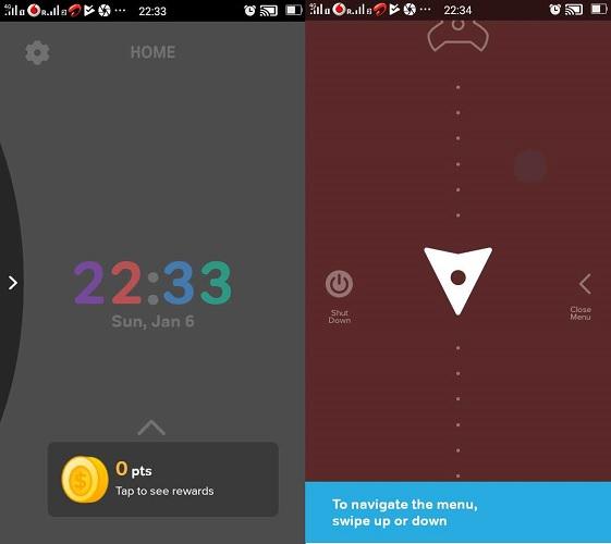 Navegación sencilla por la aplicación Drivemode