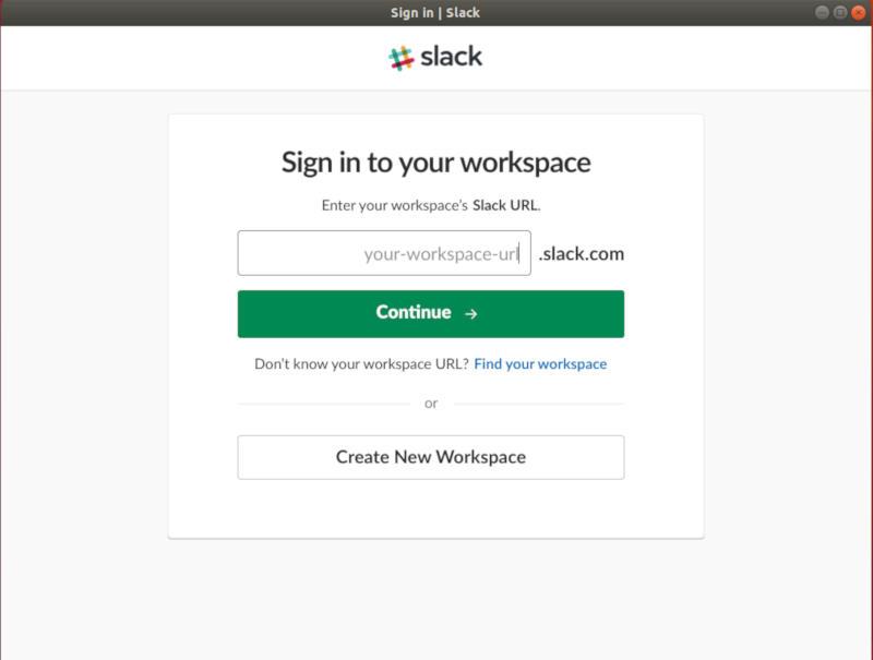 URL del espacio de trabajo de Slack