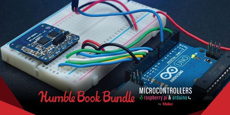 Paquete Humble Book: Microcontroladores Raspberry Pi y Arduino de Make