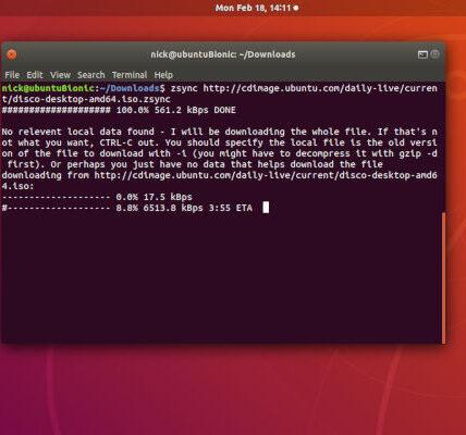 Cómo usar Zsync para transferir parte de un archivo a Linux