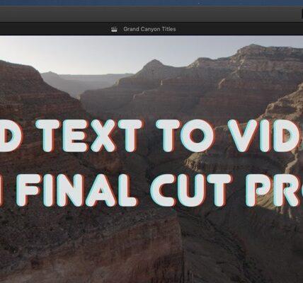 Cómo agregar texto a un video en Final Cut Pro