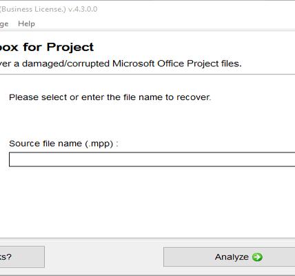 Kit de herramientas de recuperación de proyectos: una potente herramienta de recuperación de proyectos