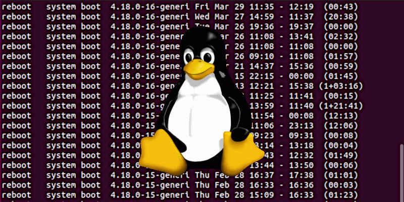 Cómo verificar la fecha de apagado y reinicio en Linux