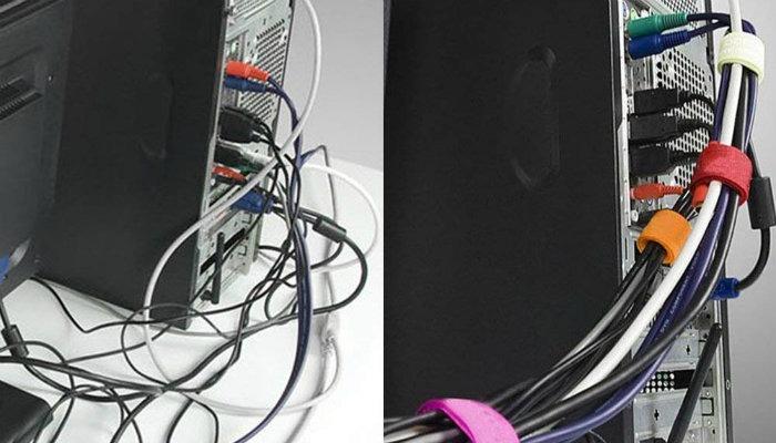 El cable maneja el velcro