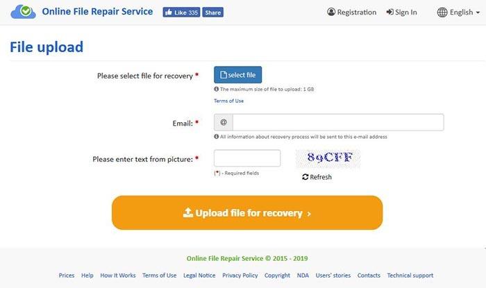 Archivo de descarga en línea de Recovery Toolbox Dwg