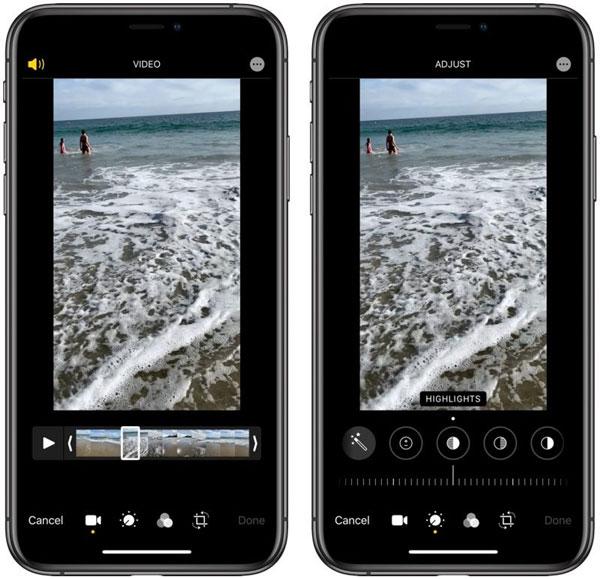 Herramientas de edición de video de IOS 13