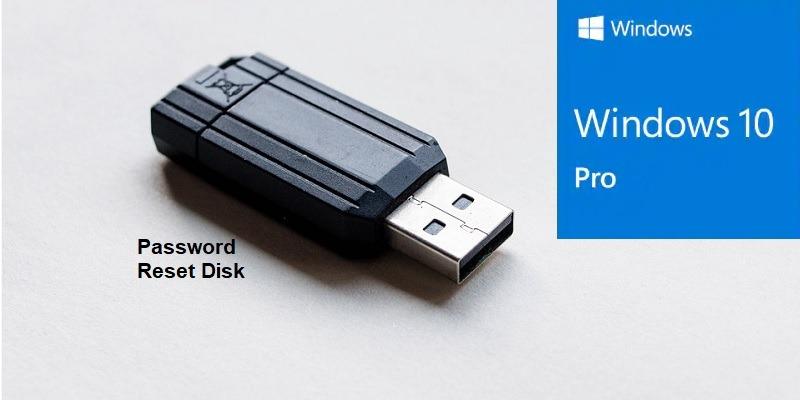Cómo crear un disco de restablecimiento de contraseña en Windows 10 Uso de una unidad flash USB