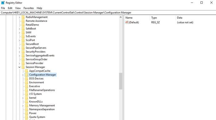 Restaurar la copia de seguridad del registro Windows 10 clave de registro de Regedit
