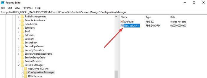 Restaurar la copia de seguridad del registro Windows 10 Regedit Registry Key Configuration Manager New Dword Enableperiodicbackups