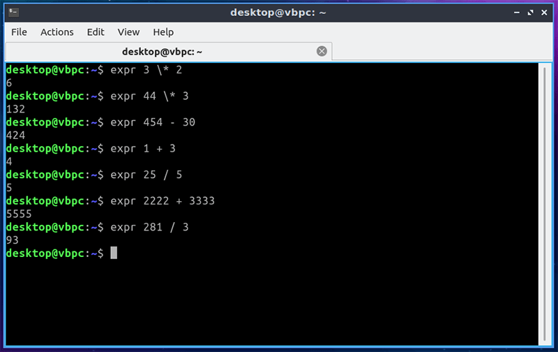 Computadoras terminales Linux Expr